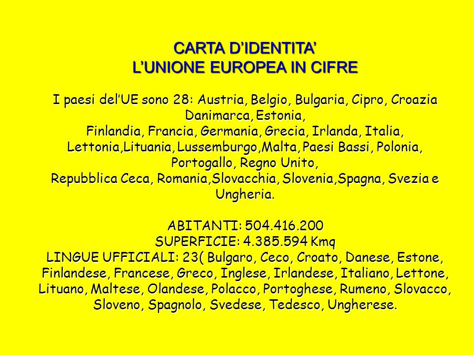 ITALIA ANNO DI ADESIONE ALL UE: 1957
