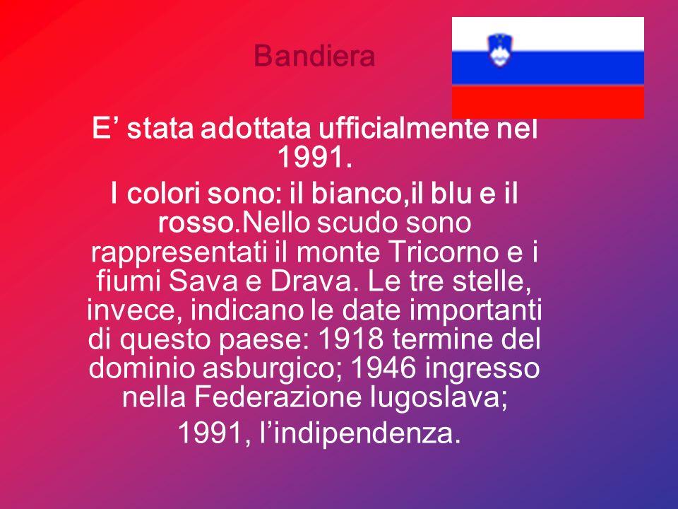 Origine del nome La regione prende il nome dagli Sloveni,popolazione Slava che vi si è stazionata anticamente. Il termine Slavo significa popolo glori