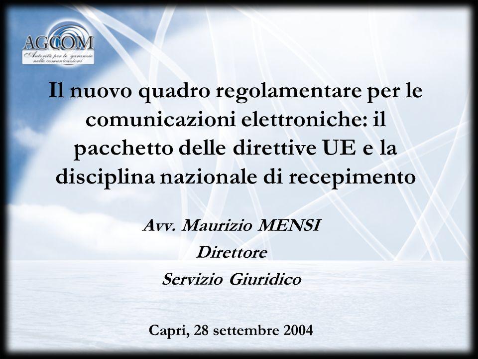I rapporti tra Autorità, Ministero e Antitrust La consultazione e la cooperazione ai sensi del nuovo quadro regolamentare sulle comunicazioni elettroniche