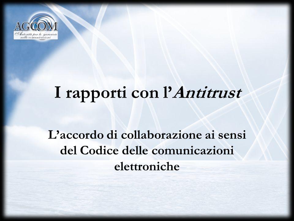 Avv. Maurizio Mensi Servizio Giuridico 28 settembre 200429 Gli accordi di collaborazione tra Autorità e Ministero Accordo di collaborazione del 28 gen