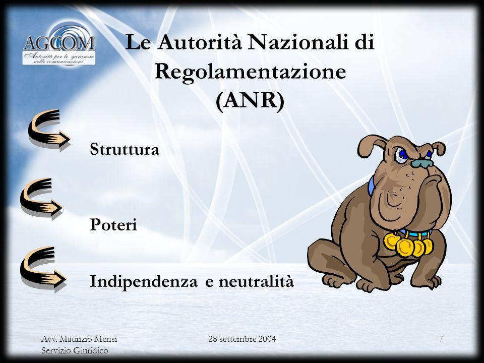 Avv.Maurizio Mensi Servizio Giuridico 28 settembre 200427 Il cd.