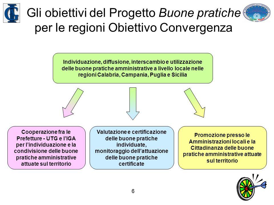7 Il progetto PON Banca dati Buone pratiche Responsabile –IGA Destinatari –Prefetture - UTG, Enti locali, cittadini Budget –6,4 milioni di Euro Durata –2 anni