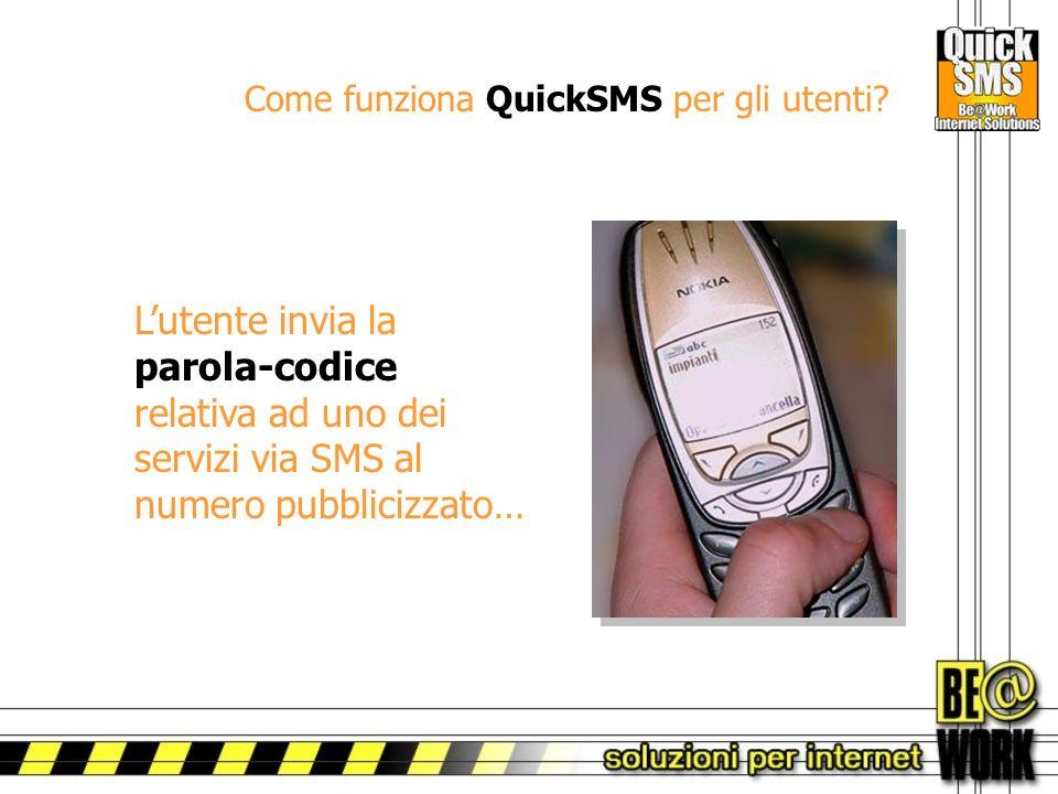 Come funziona QuickSMS per gli utenti.