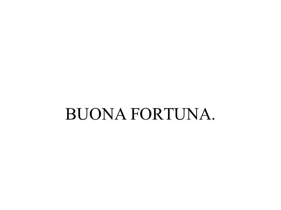 BUONA FORTUNA.