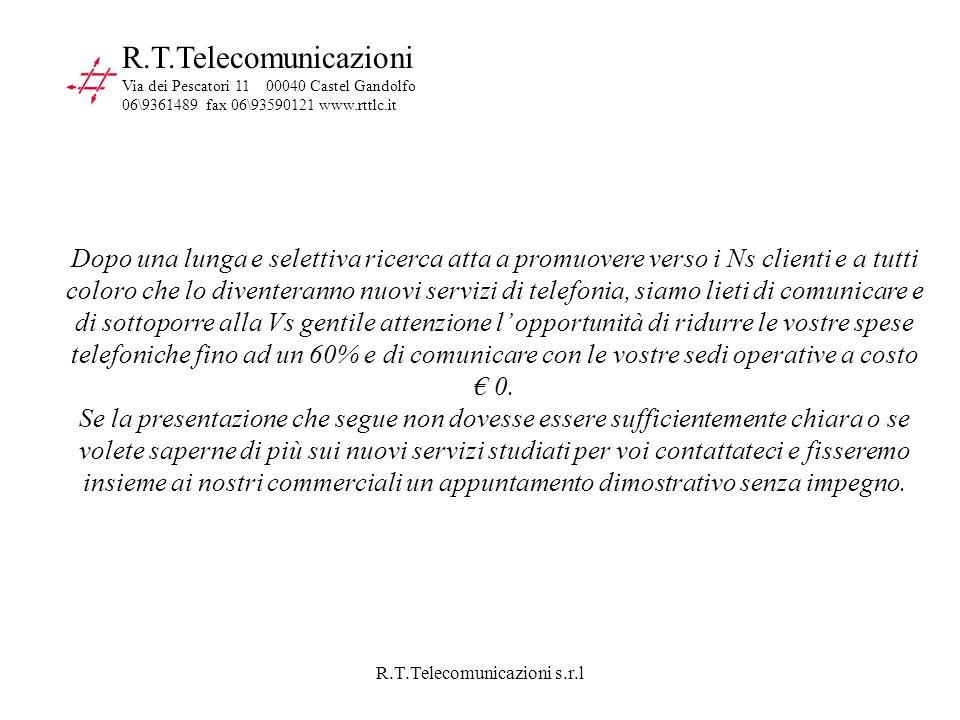 R.T.Telecomunicazioni s.r.l R.T.Telecomunicazioni Via dei Pescatori 11 00040 Castel Gandolfo 06\9361489 fax 06\93590121 www.rttlc.it Dopo una lunga e
