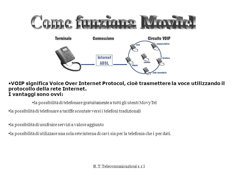 R.T.Telecomunicazioni s.r.l VOIP significa Voice Over Internet Protocol, cioè trasmettere la voce utilizzando il protocollo della rete Internet. I van
