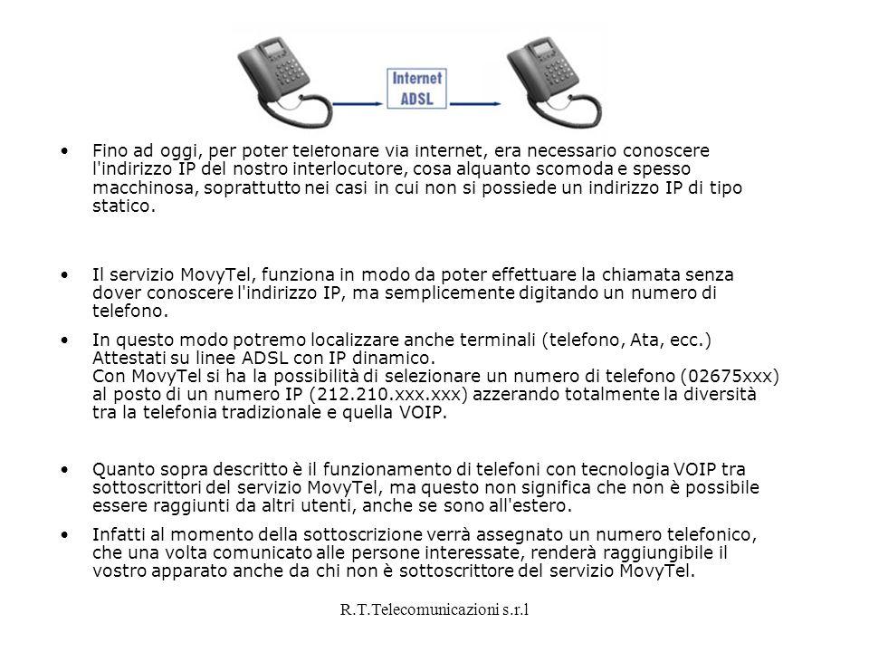 R.T.Telecomunicazioni s.r.l Fino ad oggi, per poter telefonare via internet, era necessario conoscere l'indirizzo IP del nostro interlocutore, cosa al
