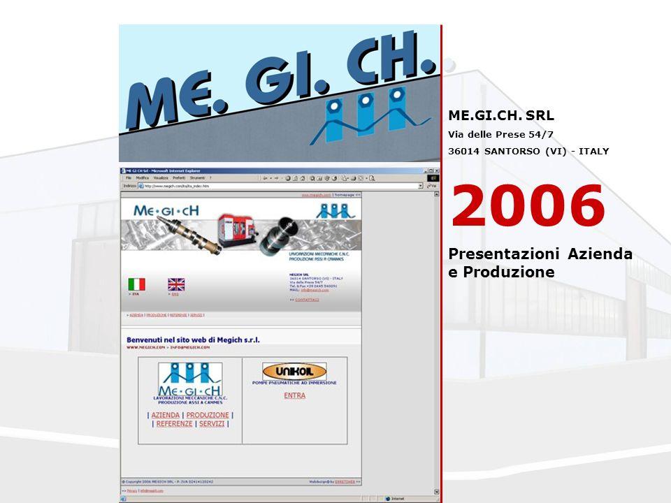 ME.GI.CH. SRL Via delle Prese 54/7 36014 SANTORSO (VI) - ITALY 2006 Presentazioni Azienda e Produzione