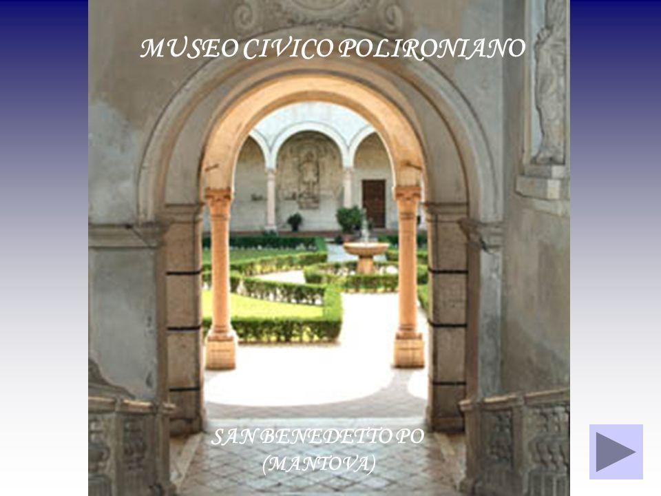 SALENDO LO SCALONE BARBERINIANO, NEL CHIOSTRO DEI SECOLARI, SI ACCEDE AL MUSEO CIVICO POLIRONIANO CHIOSTRO DEI SECOLARI SCALONE BARBERINIANO