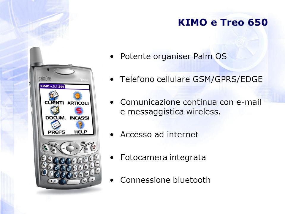 KIMO e Treo 650 Potente organiser Palm OS Telefono cellulare GSM/GPRS/EDGE Comunicazione continua con e-mail e messaggistica wireless. Accesso ad inte
