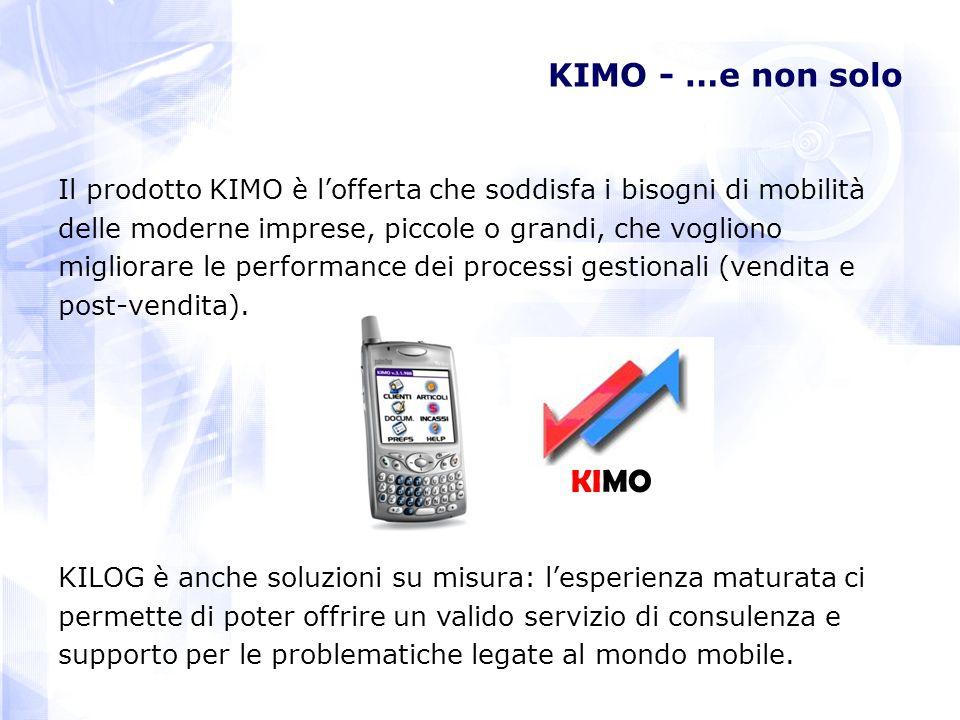 KIMO - …e non solo Il prodotto KIMO è lofferta che soddisfa i bisogni di mobilità delle moderne imprese, piccole o grandi, che vogliono migliorare le performance dei processi gestionali (vendita e post-vendita).