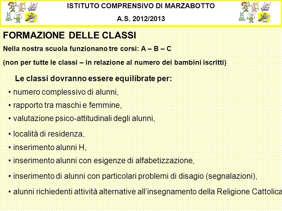FORMAZIONE DELLE CLASSI Nella nostra scuola funzionano tre corsi: A – B – C (non per tutte le classi – in relazione al numero dei bambini iscritti) IS