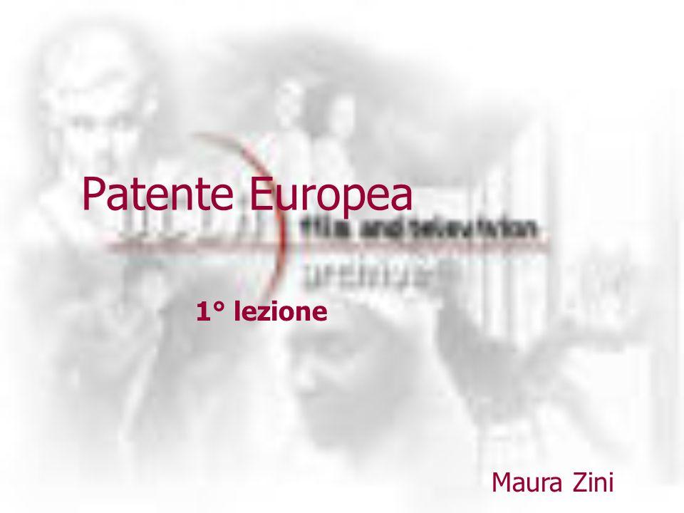 Patente Europea Maura Zini 1° lezione