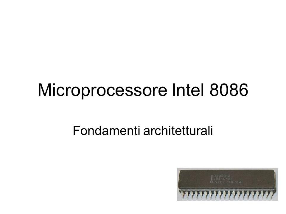 Microprocessore Intel 8086 Fondamenti architetturali