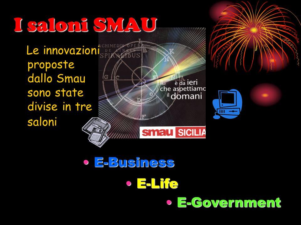 I saloni SMAU Le innovazioni proposte dallo Smau sono state divise in tre saloni E-BusinessE-Business E-LifeE-Life E-GovernmentE-Government
