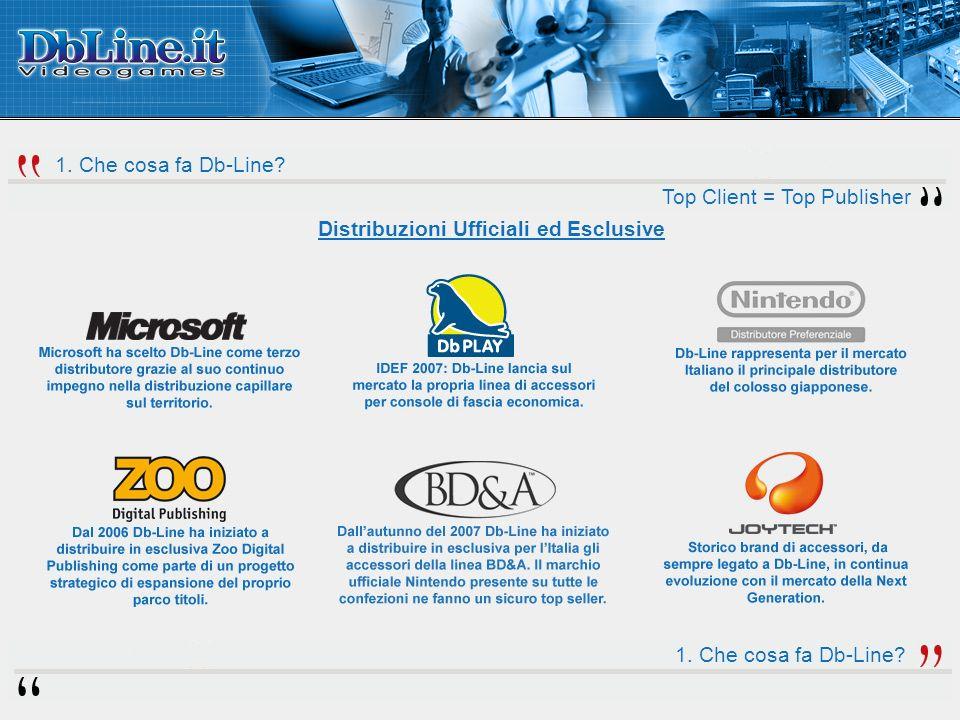 1. Che cosa fa Db-Line. Top Client = Top Publisher Distribuzioni Ufficiali ed Esclusive 1.