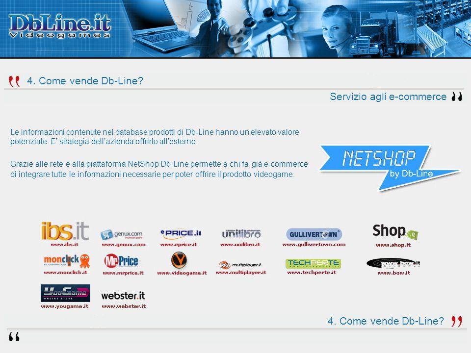 Servizio agli e-commerce Le informazioni contenute nel database prodotti di Db-Line hanno un elevato valore potenziale.