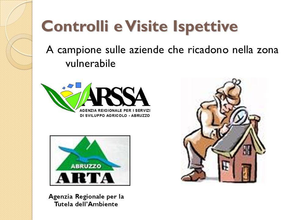 A campione sulle aziende che ricadono nella zona vulnerabile Controlli e Visite Ispettive Agenzia Regionale per la Tutela dellAmbiente