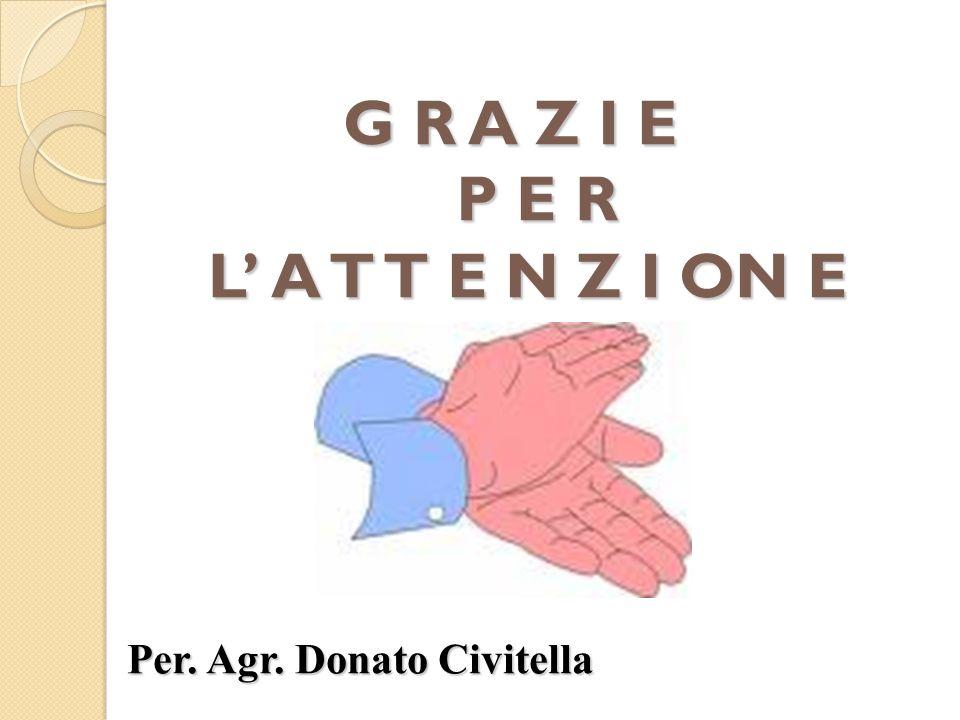 G R A Z I E P E R L A T T E N Z I ON E Per. Agr. Donato Civitella
