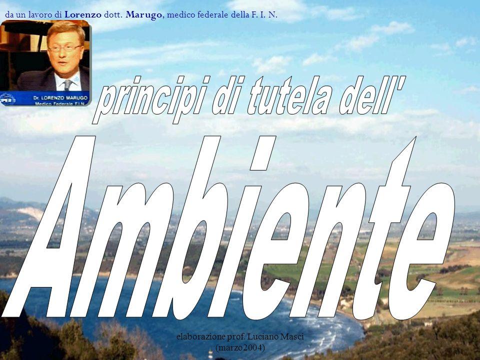 elaborazione prof.Luciano Masci (marzo2004) 22 Che cosa dire.