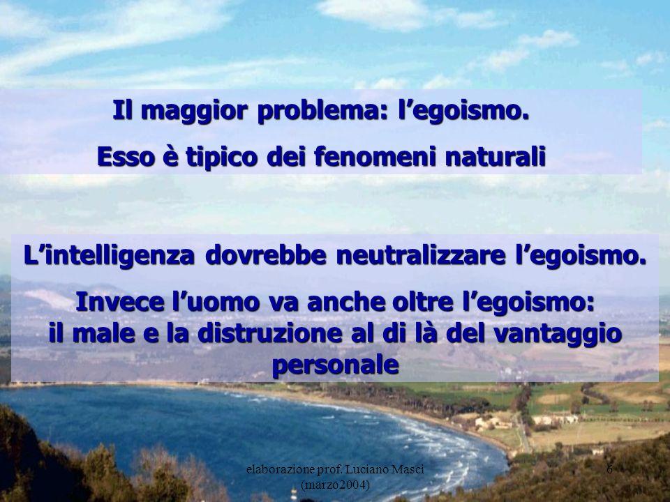 7 Il grande danno non giustifica il piccolo Lentità totale del danno è la sommatoria di grandi e piccoli eventi negativi, nessuno di questi è quindi giustificabile!