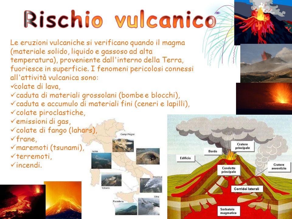 Le eruzioni vulcaniche si verificano quando il magma (materiale solido, liquido e gassoso ad alta temperatura), proveniente dall'interno della Terra,