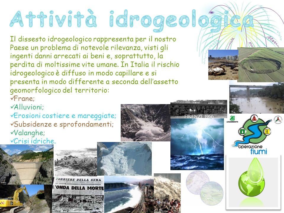Il dissesto idrogeologico rappresenta per il nostro Paese un problema di notevole rilevanza, visti gli ingenti danni arrecati ai beni e, soprattutto, la perdita di moltissime vite umane.