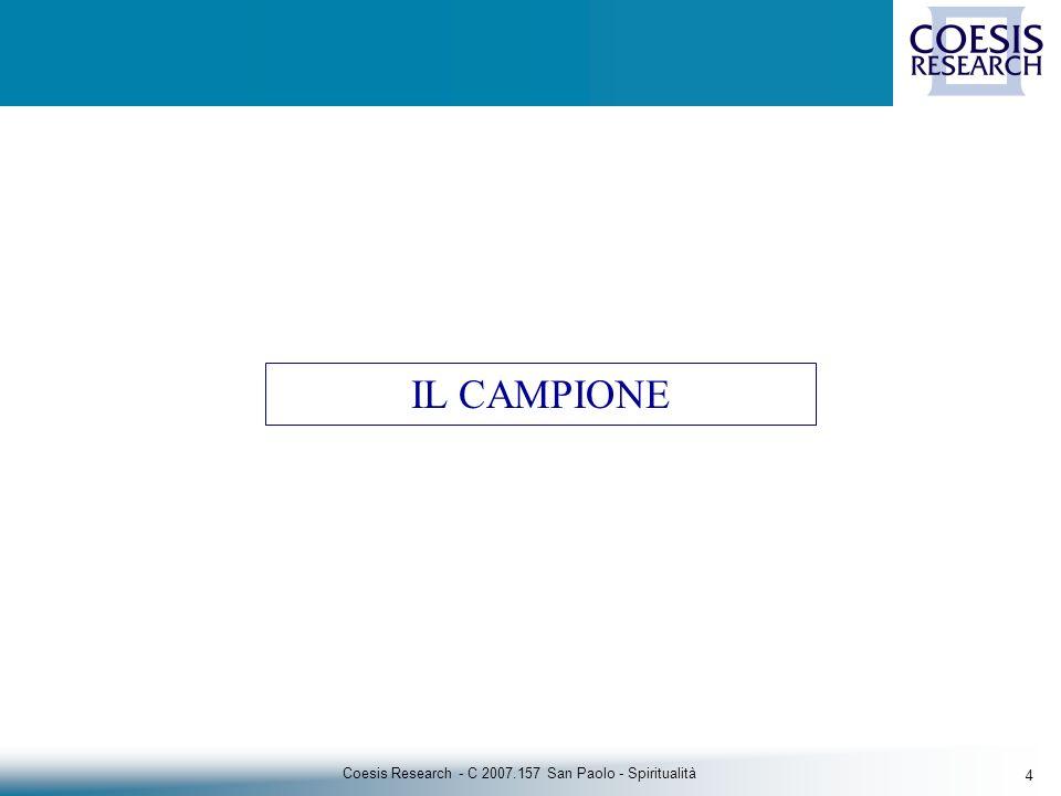 35 Coesis Research - C 2007.157 San Paolo - Spiritualità Gli Italiani e e i libri religiosi Tot.