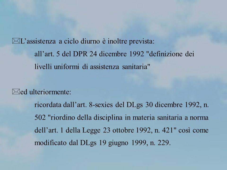 In termini di efficienza lItalia ha definito nel 2001(DPCM 29 novembre 2001 Definizione dei Livelli Essenziali di Assistenza) un basket di prestazioni comprese nei livelli essenziali di assistenza, secondo un Accordo stipulato tra il Governo e le Regioni.