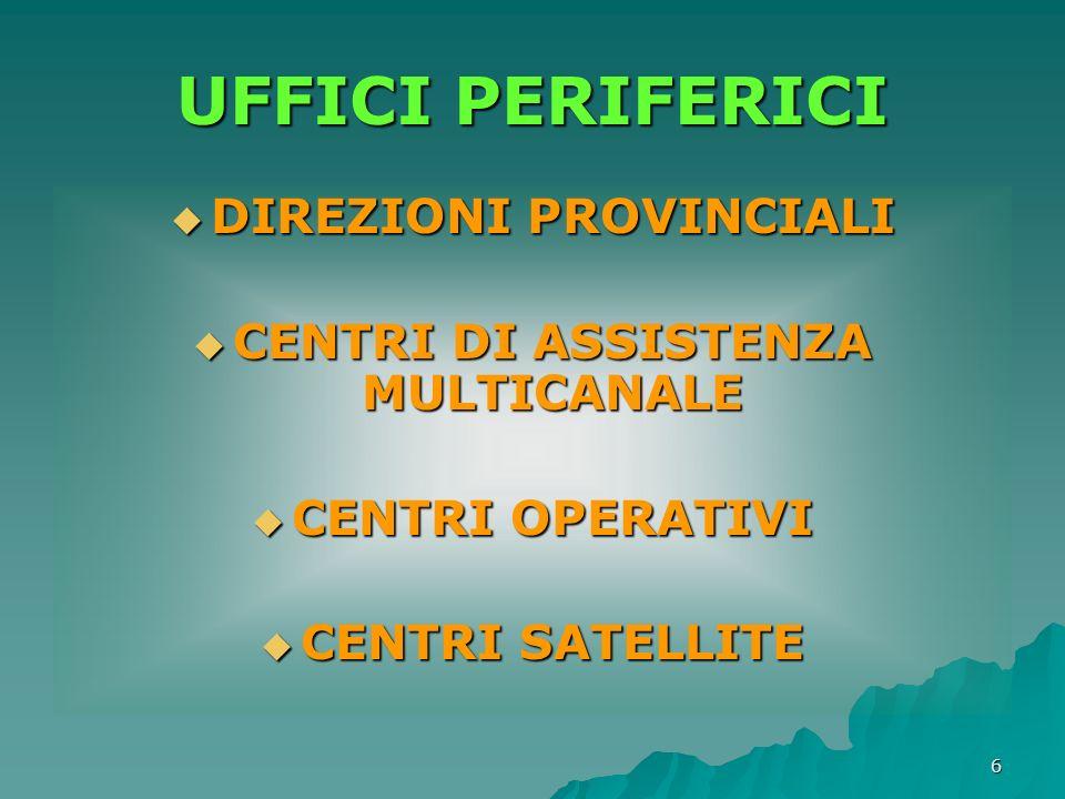 7 DIREZIONI PROVINCIALI UFFICI TERRITORIALI ATTIVITA DI INFORMAZIONE ATTIVITA DI INFORMAZIONE ASSISTENZA CONTRIBUENTI ASSISTENZA CONTRIBUENTI GESTIONE DELLE IMPOSTE DICHIARATE GESTIONE DELLE IMPOSTE DICHIARATE CONTROLLI FORMALI CONTROLLI FORMALI FUNZIONE DI CONTROLLO FUNZIONE DI CONTROLLO (TRANNE QUELLO GIA AFFIDATO UFFICI TERRITORIALI) ACCERTAMENTO ACCERTAMENTO RISCOSSIONE RISCOSSIONE UFFICIO CONTROLLI