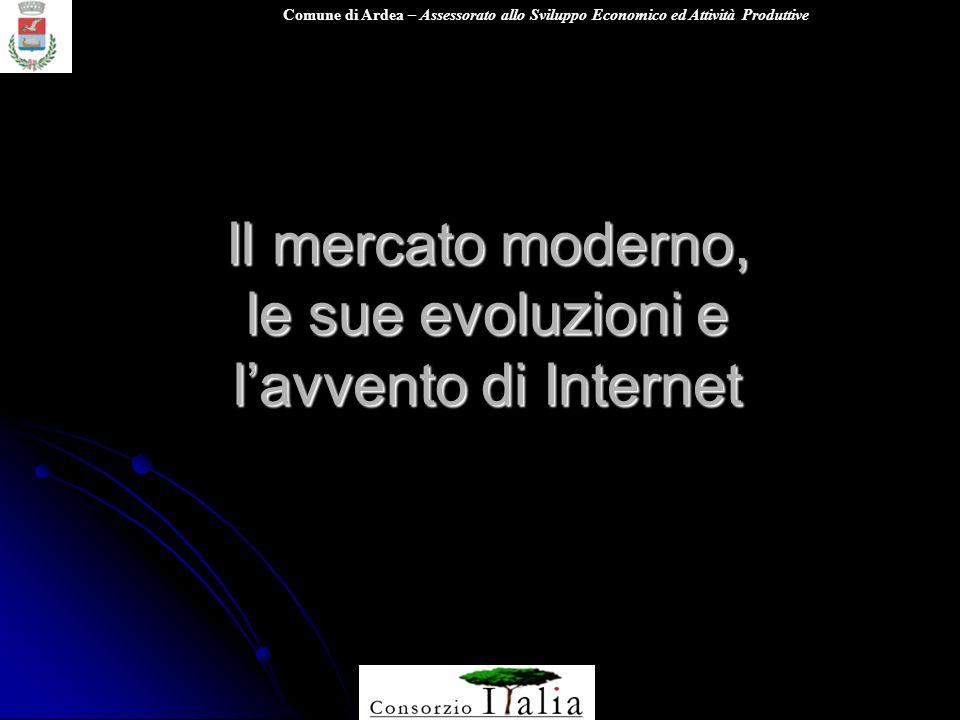 Comune di Ardea – Assessorato allo Sviluppo Economico ed Attività Produttive Il mercato moderno, le sue evoluzioni e lavvento di Internet