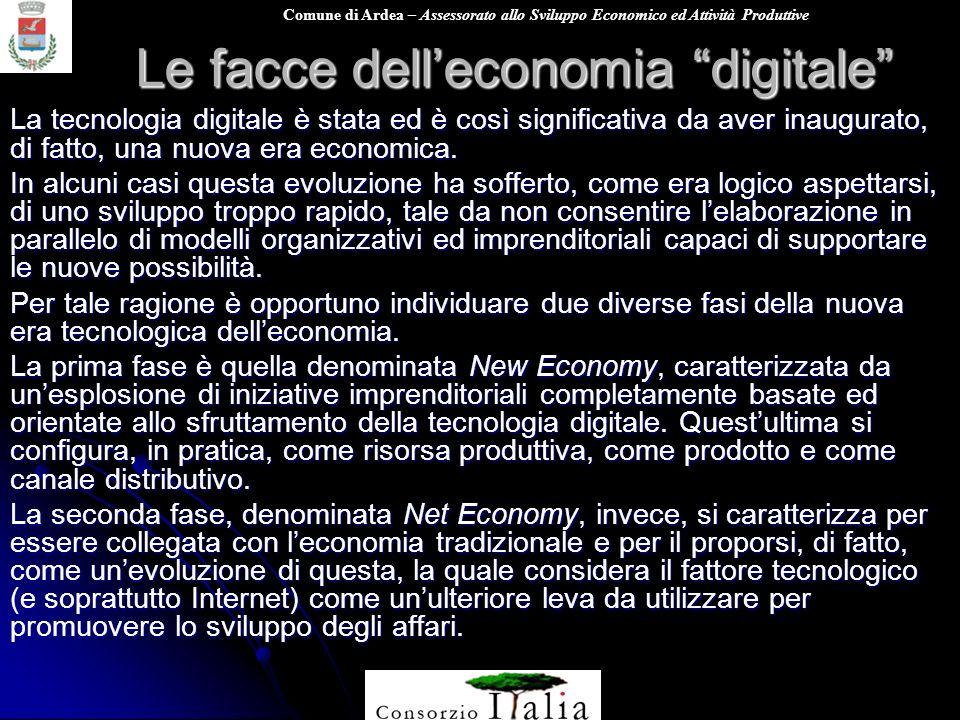 Comune di Ardea – Assessorato allo Sviluppo Economico ed Attività Produttive Le facce delleconomia digitale La tecnologia digitale è stata ed è così s