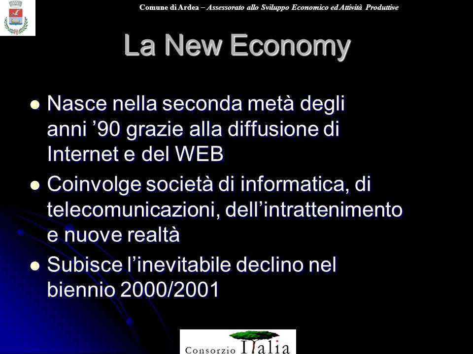 Comune di Ardea – Assessorato allo Sviluppo Economico ed Attività Produttive La New Economy Nasce nella seconda metà degli anni 90 grazie alla diffusi