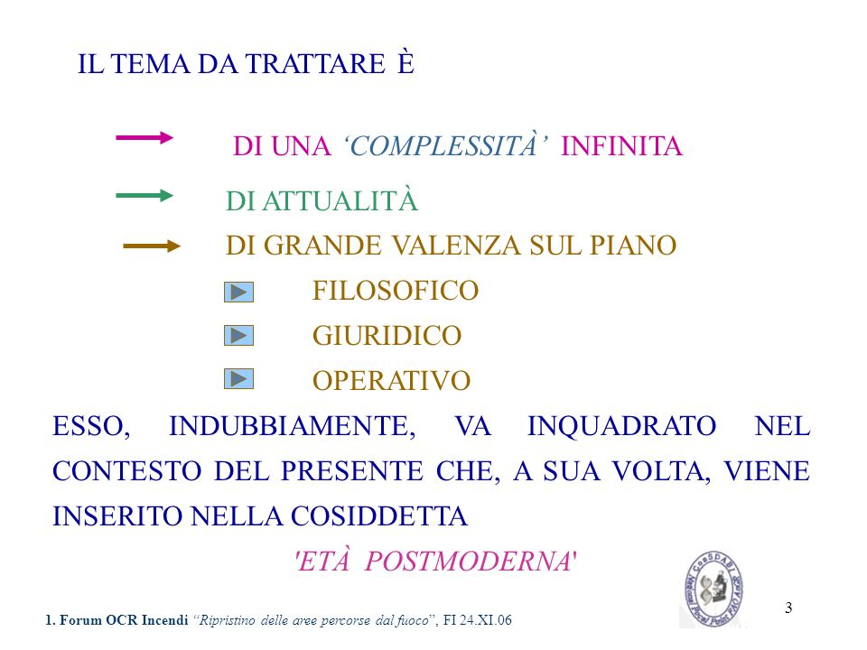 14 ANELLO DI CONGIUNZIONE CON IL PASSATO BASE DEL DIVENIRE BIOLOGICO LA BIODIVERSITÀ È DA CONSIDERARE CONTEMPORANEAMENTE E 1.