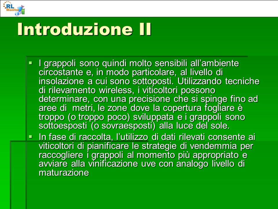 Introduzione II I grappoli sono quindi molto sensibili allambiente circostante e, in modo particolare, al livello di insolazione a cui sono sottoposti