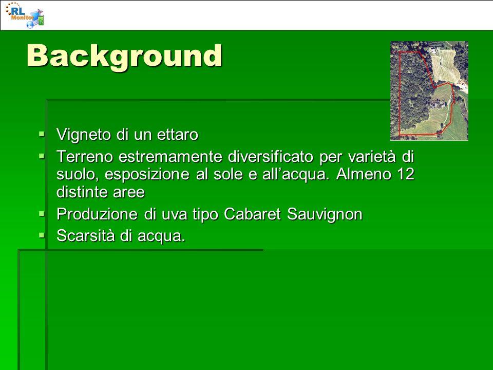 Background Vigneto di un ettaro Vigneto di un ettaro Terreno estremamente diversificato per varietà di suolo, esposizione al sole e allacqua. Almeno 1