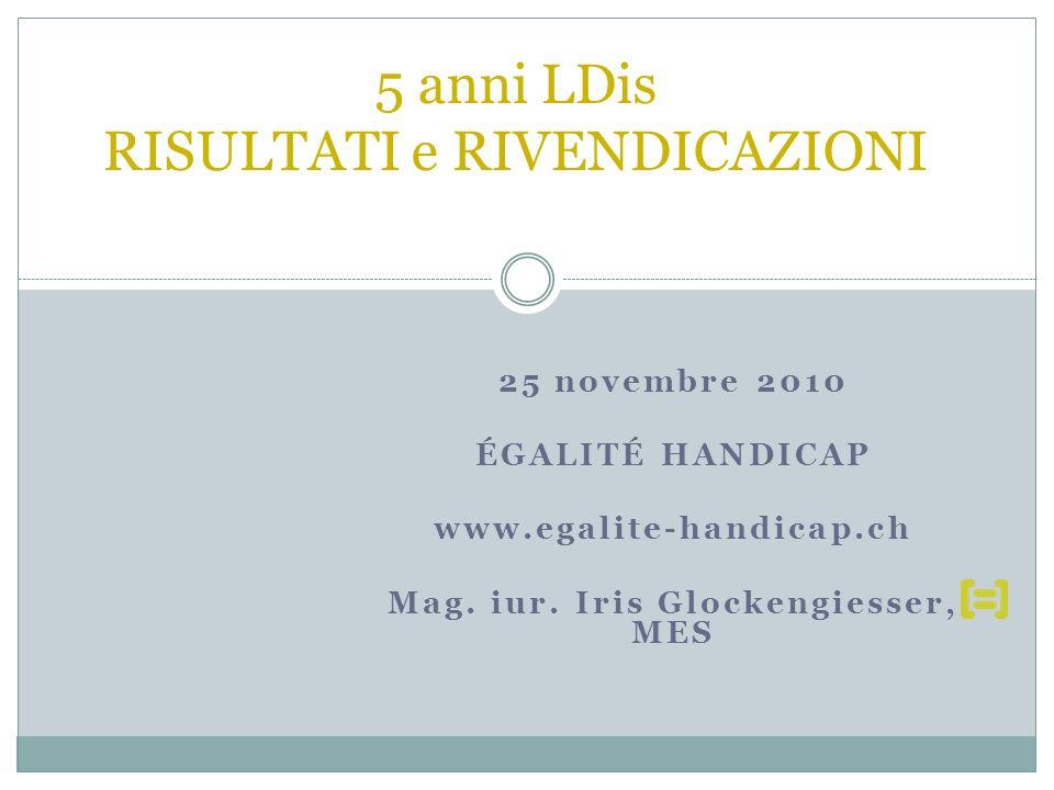 25 novembre 2010 ÉGALITÉ HANDICAP www.egalite-handicap.ch Mag.