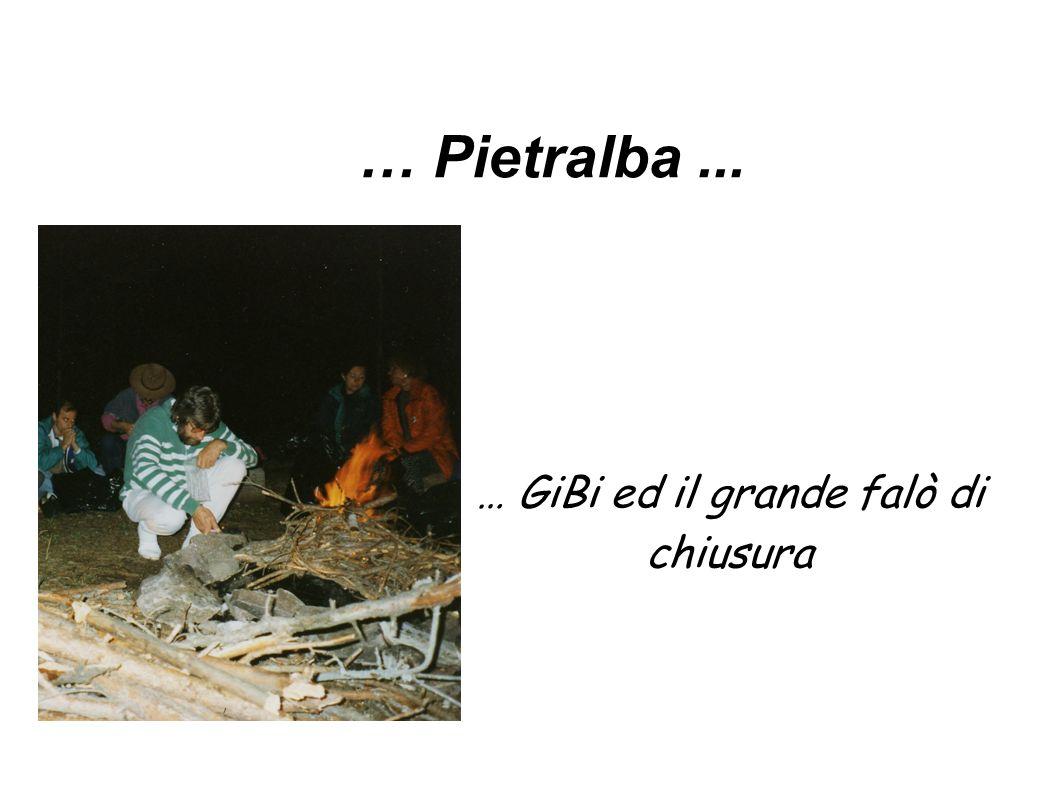 … Pietralba... … GiBi ed il grande falò di chiusura