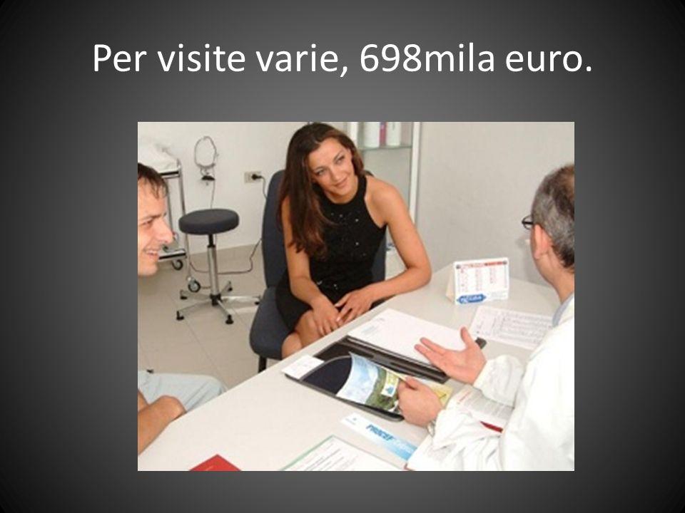 Per visite varie, 698mila euro.