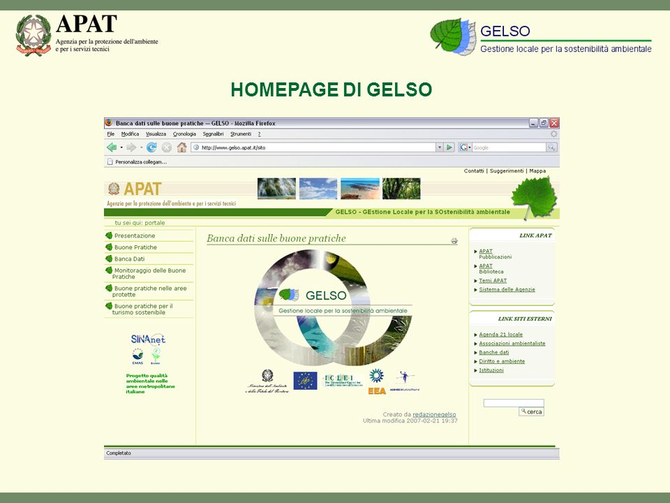 HOMEPAGE DI GELSO