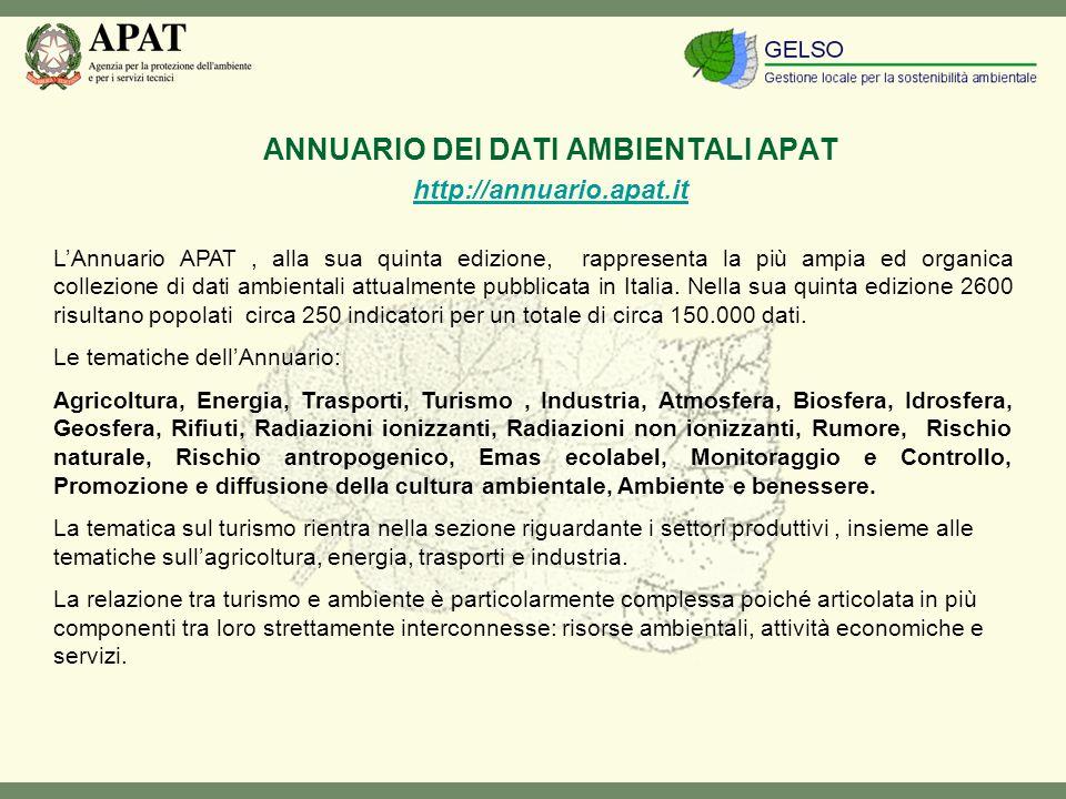 LAnnuario APAT, alla sua quinta edizione, rappresenta la più ampia ed organica collezione di dati ambientali attualmente pubblicata in Italia.