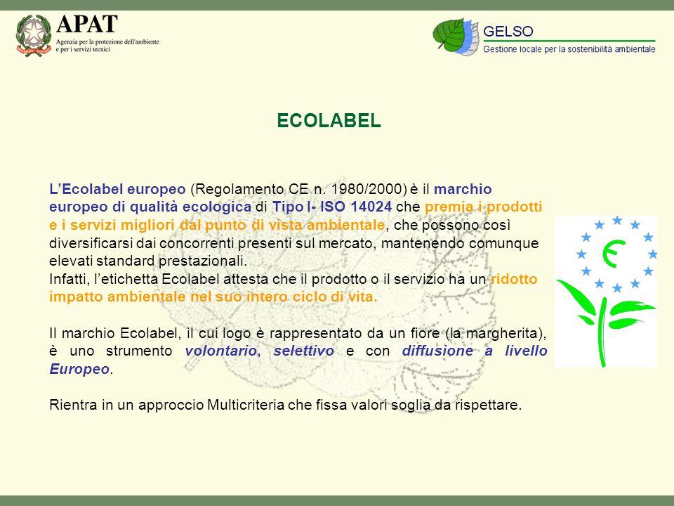 LEcolabel europeo (Regolamento CE n.