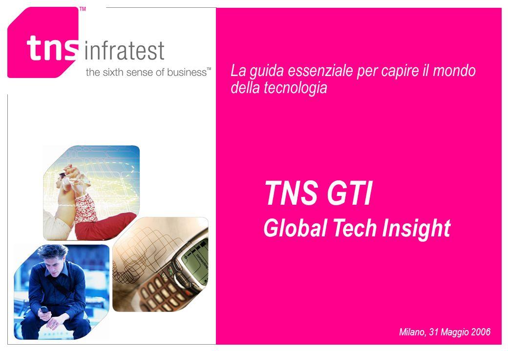 La guida essenziale per capire il mondo della tecnologia TNS GTI Global Tech Insight Milano, 31 Maggio 2006