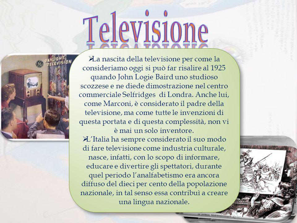 Nata di conseguenza Lidea di televisione, in senso simbolico, nasce molto tempo prima, rispetto al progetto definitivo, per lo meno nellimmaginario della società della seconda metà dellottocento.