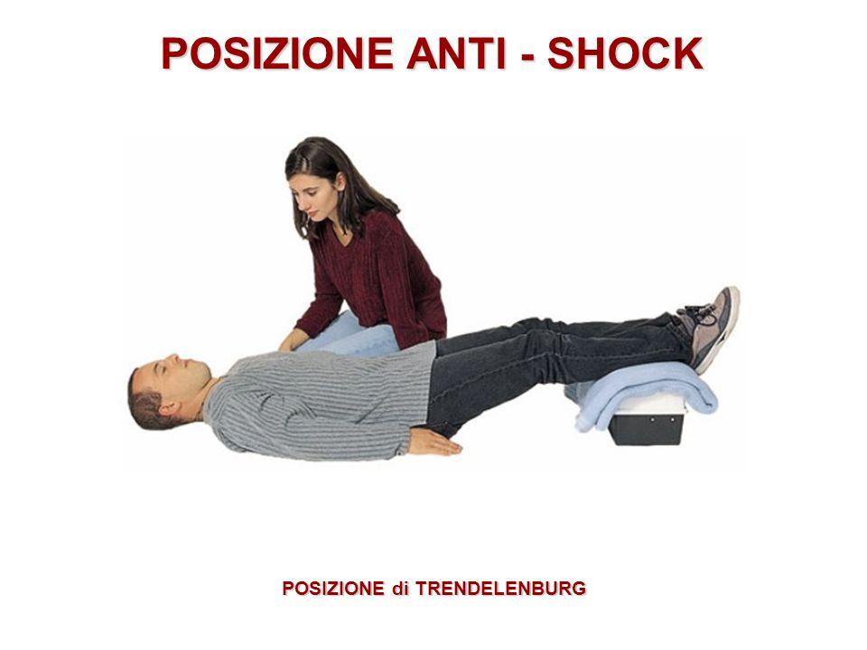 POSIZIONE ANTI - SHOCK POSIZIONE di TRENDELENBURG