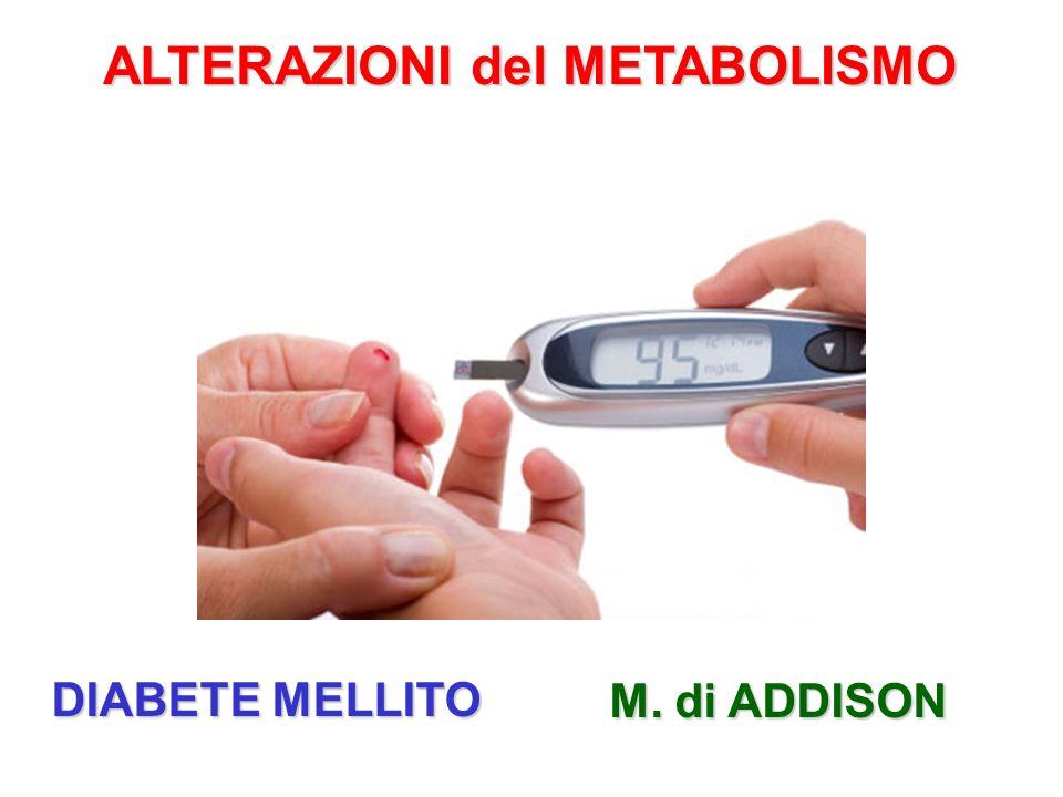 ALTERAZIONI del METABOLISMO DIABETE MELLITO M. di ADDISON
