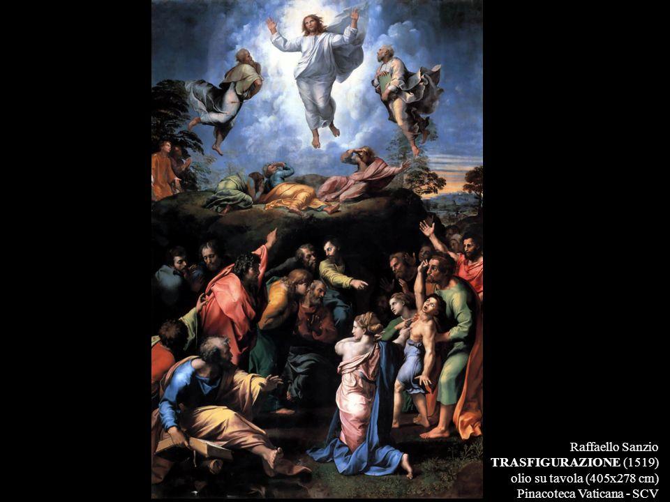 Raffaello Sanzio TRASFIGURAZIONE (1519) olio su tavola (405x278 cm) Pinacoteca Vaticana - SCV