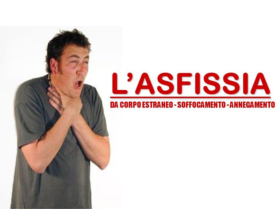 LASFISSIA DA CORPO ESTRANEO - SOFFOCAMENTO - ANNEGAMENTO