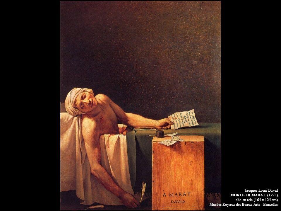 Jacques-Louis David MORTE DI MARAT (1793) olio su tela (165 x 125 cm) Musées Royaux des Beaux-Arts - Bruxelles