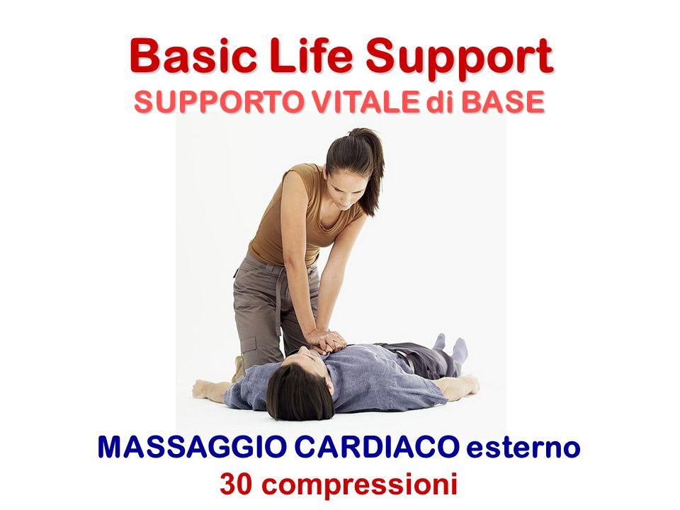 MASSAGGIO CARDIACO esterno 30 compressioni Basic Life Support SUPPORTO VITALE di BASE